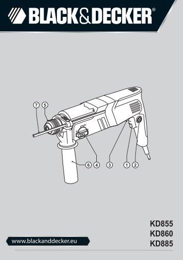 BlackandDecker Marteau Rotatif- Kd855 - Type 1 - Instruction Manual (Européen)