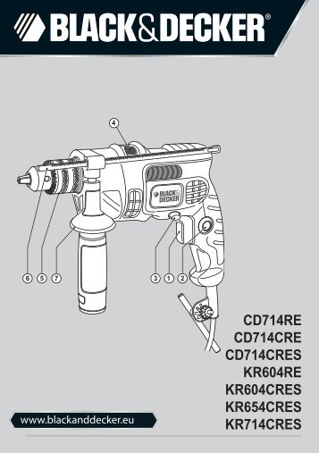 BlackandDecker Marteau Perforateur- Kr654cres - Type 1 - Instruction Manual (Européen)