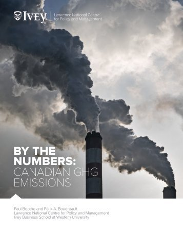 BY THE NUMBERS CANADIAN GHG EMISSIONS