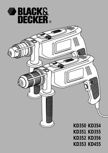 BlackandDecker Perceuse- Kd353 - Type 1 - Instruction Manual