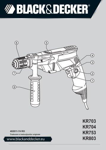 BlackandDecker Marteau Perforateur- Kr753 - Type 2 - Instruction Manual (Roumanie)