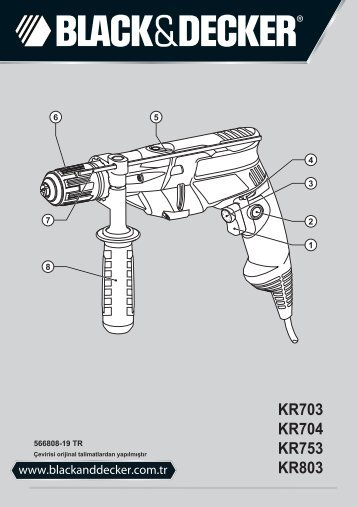BlackandDecker Marteau Perforateur- Kr753 - Type 2 - Instruction Manual (Turque)