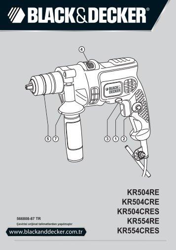 BlackandDecker Marteau Perforateur- Kr504cres - Type 2 - Instruction Manual (Turque)
