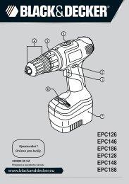BlackandDecker Perceuse S/f- Epc188 - Type H1 - Instruction Manual (Tchèque)