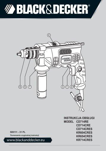 BlackandDecker Marteau Perforateur- Kr714cres - Type 1 - Instruction Manual (Pologne)