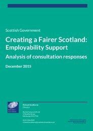 Creating a Fairer Scotland
