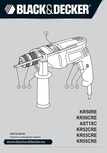 BlackandDecker Perceuse- Kr50re - Type 1 - Instruction Manual (Roumanie)