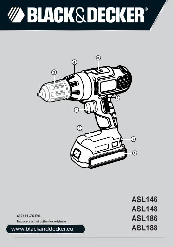 BlackandDecker Perceuse S/f- Asl188 - Type H1 - Instruction Manual (Roumanie)
