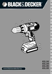BlackandDecker Perceuse S/f- Asl146 - Type H1 - Instruction Manual (Européen)