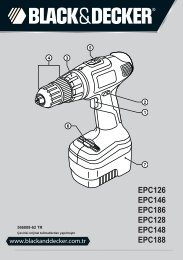 BlackandDecker Perceuse S/f- Epc146 - Type H1 - Instruction Manual (Turque)