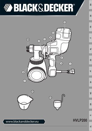 BlackandDecker Pistolet A Peindre- Hvlp200 - Type 1 - Instruction Manual (Européen)