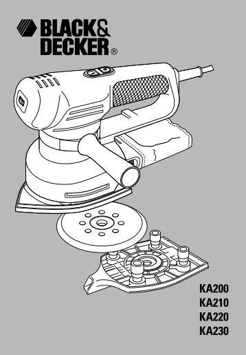 BlackandDecker Ponceuse Orbitale- Ka230e - Type 1 - Instruction Manual (Européen)