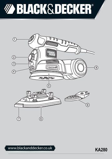 BlackandDecker Ponceuse Orbitale- Ka280 - Type 1 - Instruction Manual (Anglaise)