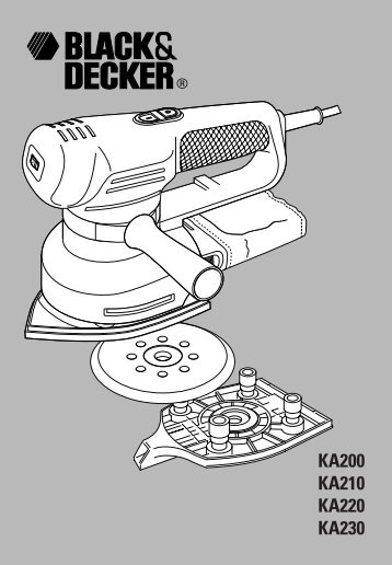 BlackandDecker Ponceuse Orbitale- Ka230e - Type 1 - Instruction Manual (Anglaise)