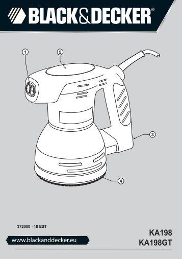 BlackandDecker Poncceuse Orbitale- Ka198gt - Type 1 - Instruction Manual (Européen Oriental)