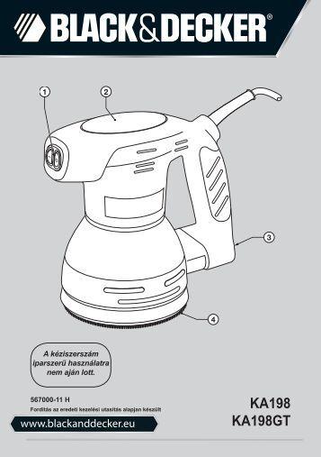 BlackandDecker Poncceuse Orbitale- Ka198gt - Type 1 - Instruction Manual (la Hongrie)