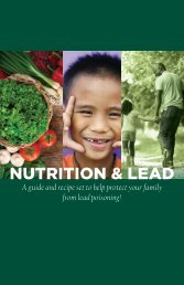 Nutrition & Lead
