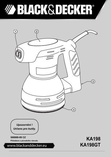 BlackandDecker Poncceuse Orbitale- Ka198gt - Type 1 - Instruction Manual (Tchèque)