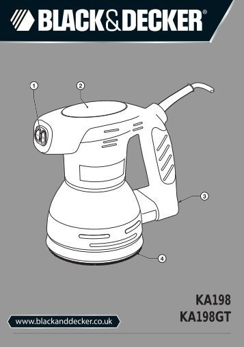 BlackandDecker Poncceuse Orbitale- Ka198gt - Type 1 - Instruction Manual (Anglaise)