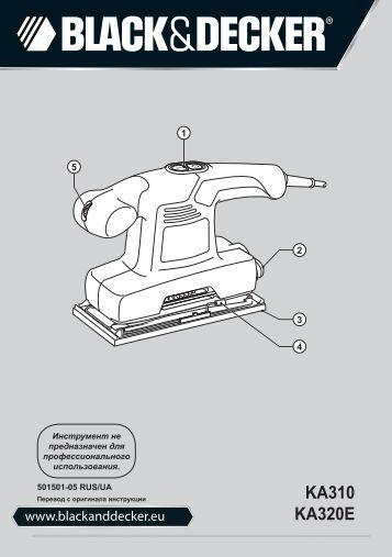 BlackandDecker Ponceuse Orbitale- Ka310 - Type 1 - Instruction Manual (Russie - Ukraine)