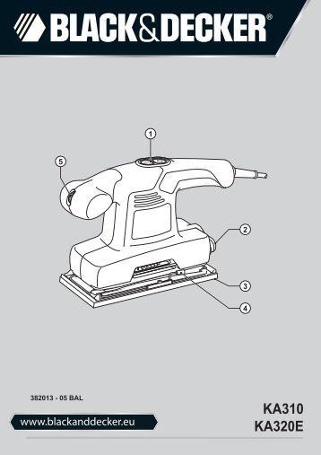 BlackandDecker Ponceuse Orbitale- Ka310 - Type 1 - Instruction Manual (Balkans)