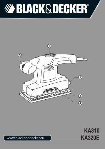 BlackandDecker Ponceuse Orbitale- Ka310 - Type 1 - Instruction Manual (Européen)