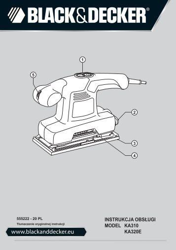 BlackandDecker Ponceuse Orbitale- Ka310 - Type 1 - Instruction Manual (Pologne)