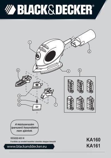 BlackandDecker Ponceuse Vibrante- Ka160k - Type 1 - Instruction Manual (la Hongrie)