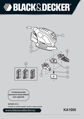 BlackandDecker Ponceuse Vibrante- Ka1000 - Type 1 - Instruction Manual (la Hongrie)