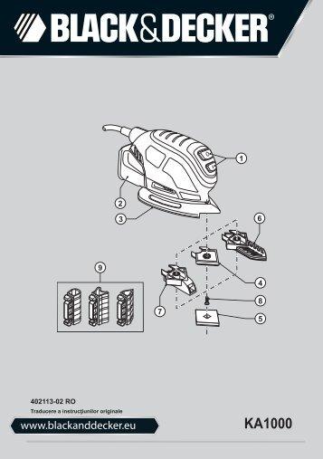 BlackandDecker Ponceuse Vibrante- Ka1000 - Type 1 - Instruction Manual (Roumanie)