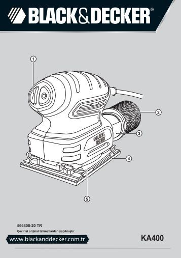BlackandDecker Ponceuse Orbitale- Ka400 - Type 1 - Instruction Manual (Turque)