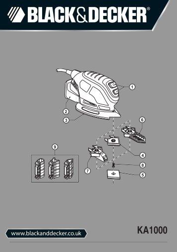 BlackandDecker Ponceuse Vibrante- Ka1000 - Type 1 - Instruction Manual (Anglaise)