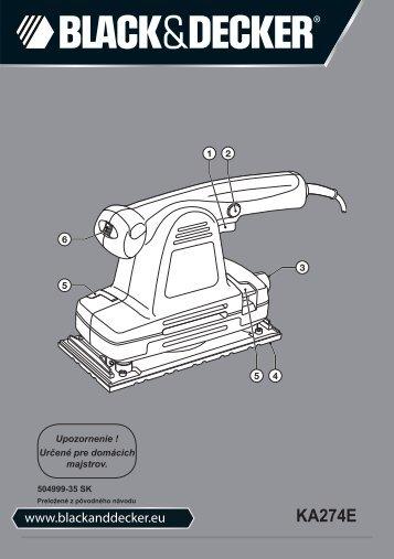 BlackandDecker Ponceuse Orbitale- Ka274ek(L) - Type 1 - Instruction Manual (Slovaque)