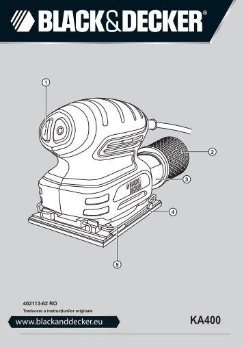 BlackandDecker Ponceuse Orbitale- Ka400 - Type 1 - Instruction Manual (Roumanie)