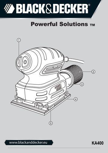 BlackandDecker Ponceuse Orbitale- Ka400 - Type 1 - Instruction Manual (Européen)