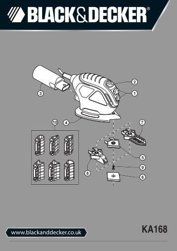 BlackandDecker Ponceuse Vibrante- Ka168k - Type 1 - Instruction Manual (Anglaise)
