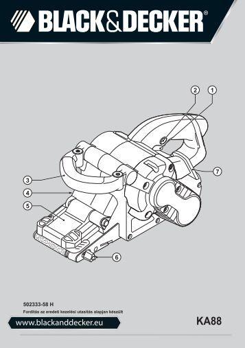 BlackandDecker Ponceuse A Bande- Ka88 - Type 3 - Instruction Manual (la Hongrie)