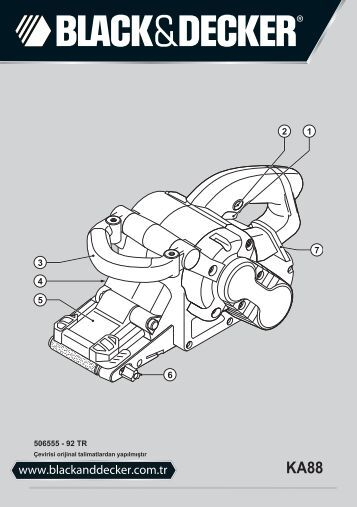 BlackandDecker Ponceuse A Bande- Ka88 - Type 3 - Instruction Manual (Turque)