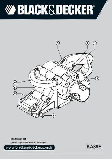 BlackandDecker Ponceuse A Bande- Ka89e - Type 1 - Instruction Manual (Turque)