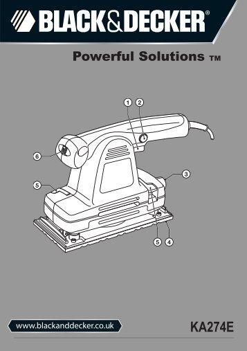 BlackandDecker Ponceuse Orbitale- Ka274ek(L) - Type 1 - Instruction Manual (Anglaise)