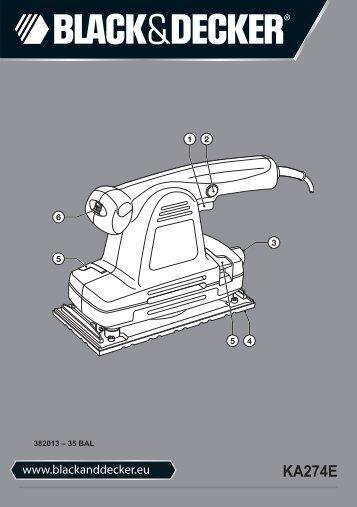 BlackandDecker Ponceuse Orbitale- Ka274ek(L) - Type 1 - Instruction Manual (Balkans)