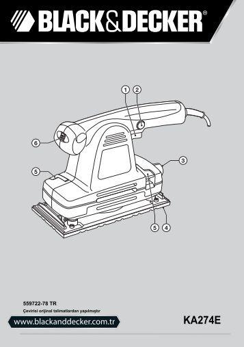 BlackandDecker Ponceuse Orbitale- Ka274ek(L) - Type 1 - Instruction Manual (Turque)