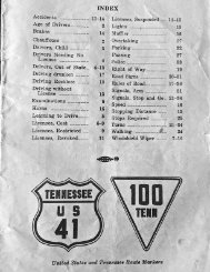 1966 Tennessee Drivers Manual (partial pages)