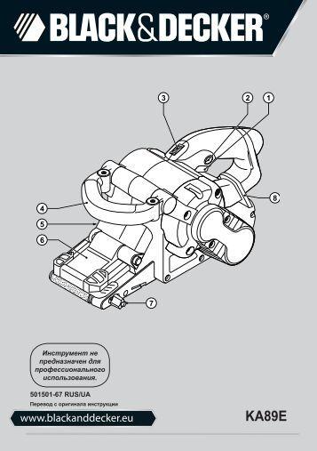 BlackandDecker Ponceuse A Bande- Ka89e - Type 1 - Instruction Manual (Russie - Ukraine)