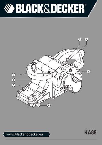 BlackandDecker Ponceuse A Bande- Ka88 - Type 3 - Instruction Manual (Européen)