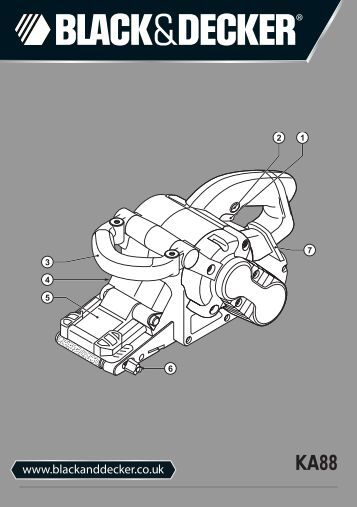 BlackandDecker Ponceuse A Bande- Ka88 - Type 3 - Instruction Manual (Anglaise)