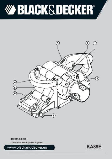 BlackandDecker Ponceuse A Bande- Ka89e - Type 1 - Instruction Manual (Roumanie)