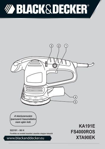 BlackandDecker Poncceuse Orbitale- Ka191ek - Type 3 - Instruction Manual (la Hongrie)