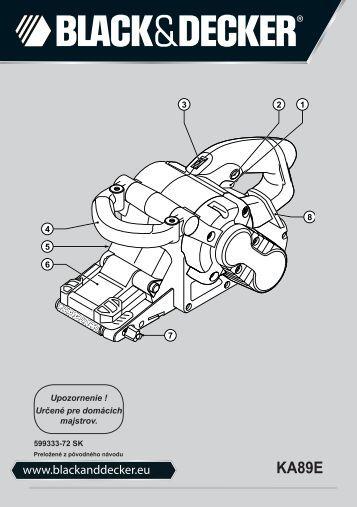 BlackandDecker Ponceuse A Bande- Ka89e - Type 1 - Instruction Manual (Slovaque)