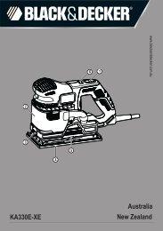 BlackandDecker Ponceuse- Ka330 - Type 1 - Instruction Manual (Australie Nouvelle-Zélande)